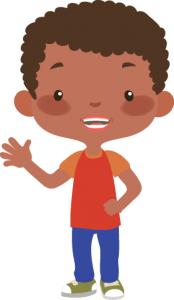 niño saludando